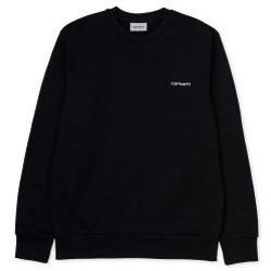 Abbigliamento Uomo Felpe Carhartt Felpa Script Embroidery Sweatshirt - Black Nero