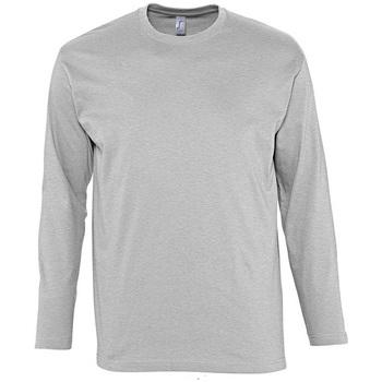 Abbigliamento Uomo T-shirts a maniche lunghe Sols MONARCH COLORS MEN Gris