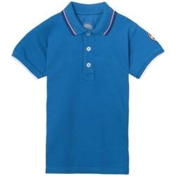 Abbigliamento Unisex bambino Polo maniche corte Colmar Polo ragazzo piquet profilata Blu