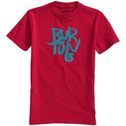 Abbigliamento Unisex bambino T-shirt maniche corte Burton T-shirt bambino Stacked Rosso