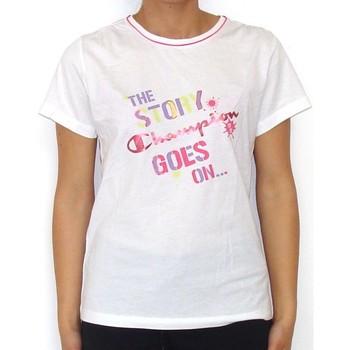 Abbigliamento Bambina T-shirt maniche corte Champion T-shirt bambina Authentic Girl Bianco