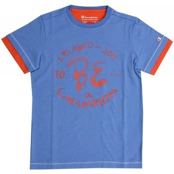 Abbigliamento Unisex bambino T-shirt maniche corte Champion T-shirt bambino Logo Azzurro