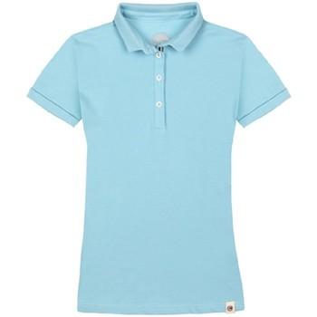 Abbigliamento Donna Polo maniche corte Colmar Polo Donna Cotone Elasticizzato Azzurro
