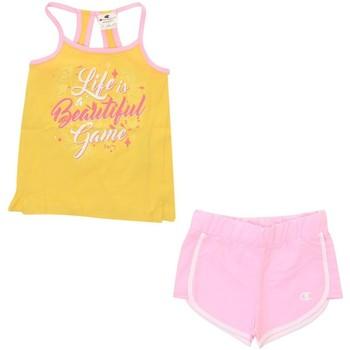 Abbigliamento Unisex bambino Giacche da completo Champion Completo Bambina Canotta + Short Giallo