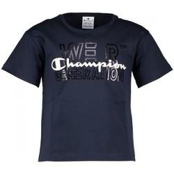 Abbigliamento Unisex bambino T-shirt maniche corte Champion T-Shirt Bambino Stampa Blu