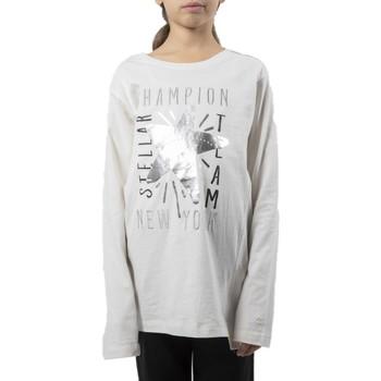 Abbigliamento Bambina T-shirts a maniche lunghe Champion T-Shirt Junior Light Cotton Bianco