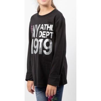 Abbigliamento Bambina T-shirts a maniche lunghe Champion T-Shirt Bambina Laminata Nero