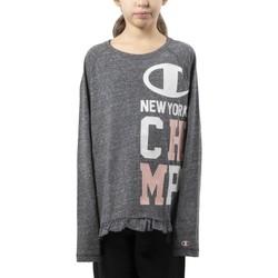 Abbigliamento Bambina T-shirts a maniche lunghe Champion T-Shirt Junior G-Tee Grigio