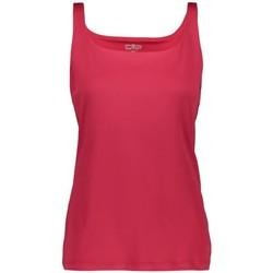 Abbigliamento Donna Top / T-shirt senza maniche Cmp Canotta Trekking Donna Double Rosso