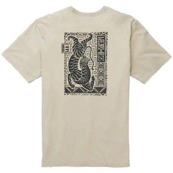 Abbigliamento Uomo T-shirt maniche corte Burton T-Shirt Uomo Dowle Tee Beige