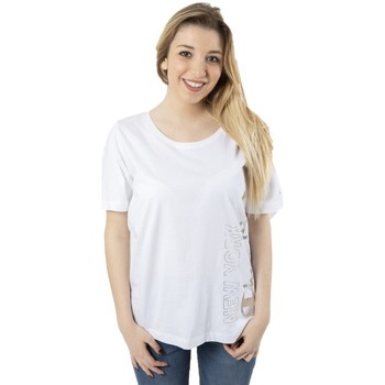 Abbigliamento Donna T-shirt maniche corte Champion T-Shirt Donna Lady Tee Light Jersey Bianco