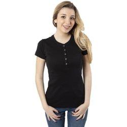 Abbigliamento Donna T-shirt maniche corte Champion T-Shirt Donna American Classic Serafino Nero