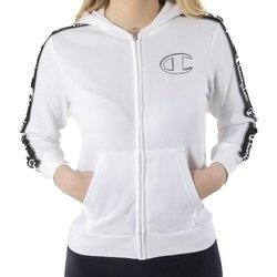Abbigliamento Bambina Felpe Champion Felpa Bambina Evo Street Banda Full Zip Bianco