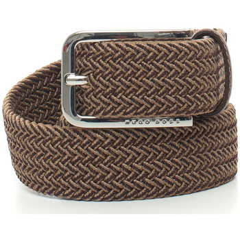 Accessori Uomo Cinture Hugo Boss Cintura elasticizzata Marrone Nylon Uomo marrone