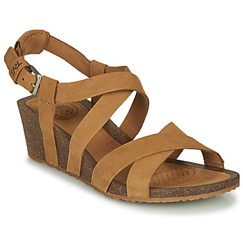 Scarpe Donna Sandali Teva MAHONIA WEDGE CROSS STRAP Marrone