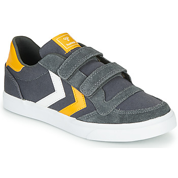 Scarpe Unisex bambino Sneakers basse Hummel STADIL LOW JR Grigio