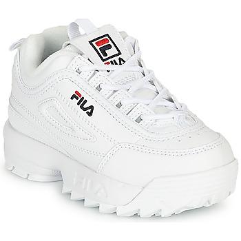Scarpe Unisex bambino Sneakers basse Fila DISRUPTOR INFANTS Bianco