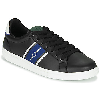 Scarpe Uomo Sneakers basse Fred Perry B721 LEATHER / WEBBING Nero