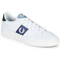 Scarpe Uomo Sneakers basse Fred Perry B8198 LEATHER / WHITE / NAVY Bianco