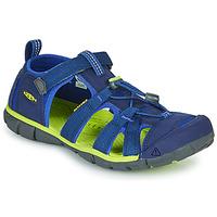 Scarpe Unisex bambino Sandali sport Keen SEACAMP II CNX Blu / Verde