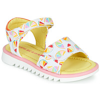 Scarpe Bambina Sandali Agatha Ruiz de la Prada SMILES Bianco / Multicolore