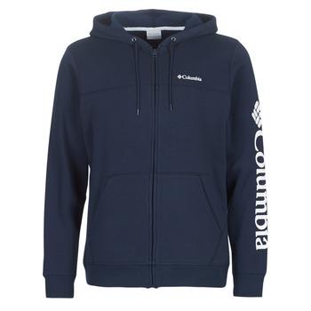 Abbigliamento Uomo Felpe Columbia COLUMBIA LOGO FLEECE FULL ZIP Blu