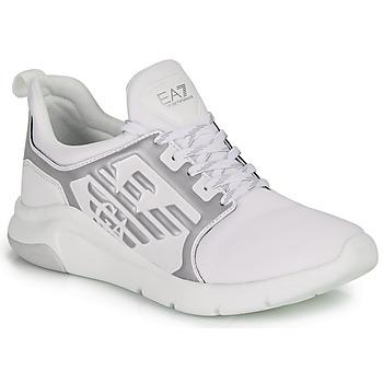 Scarpe Sneakers basse Emporio Armani EA7 RACER REFLEX CC Bianco / Argento