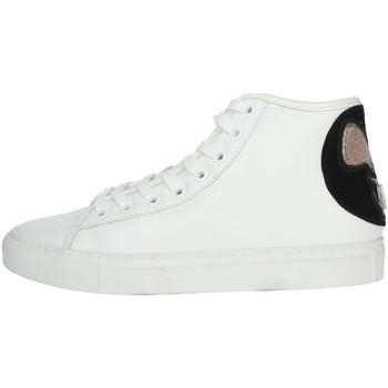 Scarpe Donna Sneakers alte Date I19-69 BIANCO