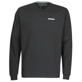 Abbigliamento Uomo T-shirts a maniche lunghe Patagonia M's L/S P-6 Logo Responsibili-Tee Nero