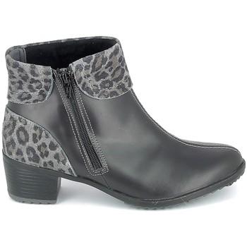Scarpe Donna Stivaletti Boissy Boots Noir Leopard Nero