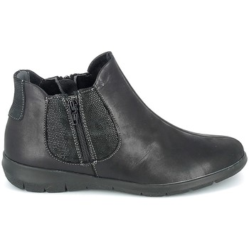 Scarpe Donna Stivaletti Boissy Boots Noir texturé Nero