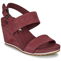 Scarpe Donna Sandali Timberland CAPRI SUNSET WEDGE Bordeaux