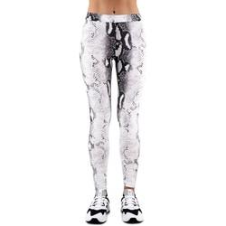 Abbigliamento Donna Leggings Happiness Leggings Snake Bianco  HAPI19LEGPIT Bianco