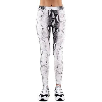 Abbigliamento Donna Leggings Happiness | Leggings Snake, Bianco | HAP_I19_LEGPIT blanc