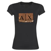 Abbigliamento Donna T-shirt maniche corte Armani Exchange HONEY Nero