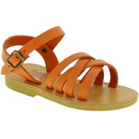 Scarpe Bambina Sandali Attica Sandals Attica sandalo da bambino hebe in pelle di vitello ne handma arancio
