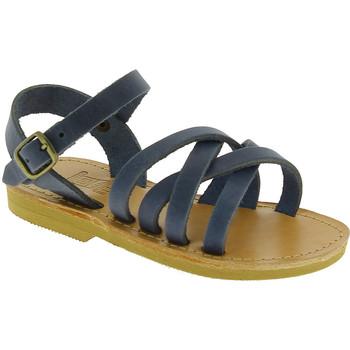 Scarpe Uomo Sandali Attica Sandals Attica sandalo da bambino hebe in morbida pelle nubuck hand blu