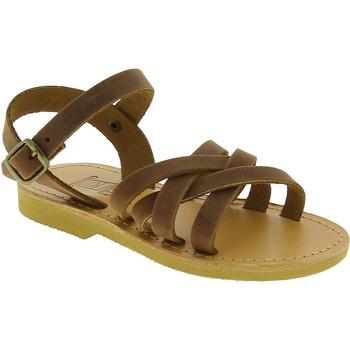 Scarpe Bambina Sandali Attica Sandals Sandali gladiatore bambino hebe by attica in pelle di nubuck Marrone medio