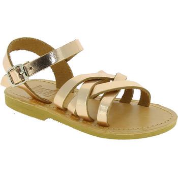 Scarpe Bambina Sandali Attica Sandals Sandali gladiatore bambina hebe by attica in pelle laminato Oro rosa
