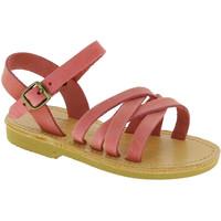 Scarpe Bambina Sandali Attica Sandals Attica sandalo da bambina hebe in nubuck handmade in greece Rosa chiaro