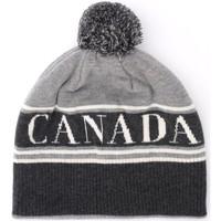 Accessori Donna Berretti Canada Goose Cappellino in lana grigia con pompom Grigio
