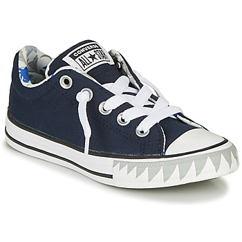 Scarpe Bambino Sneakers basse Converse CHUCK TAYLOR ALL STAR STREET SHARK BITE SLIP-ON - SLIP Navy