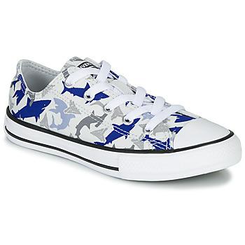 Scarpe Bambino Sneakers basse Converse CHUCK TAYLOR ALL STAR SHARK BITE - OX White / Blue