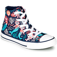 Scarpe Bambina Sneakers alte Converse CHUCK TAYLOR ALL STAR UNDERWATER PARTY Blu
