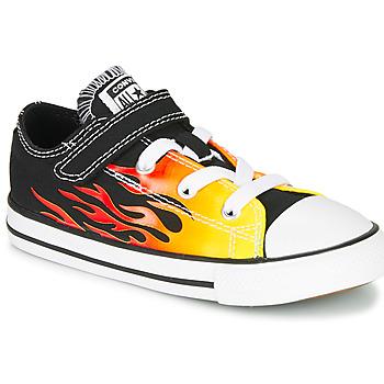 Scarpe Bambina Sneakers basse Converse CHUCK TAYLOR ALL STAR 1V - OX Black /  yellow