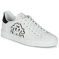 Scarpe Uomo Sneakers basse Roberto Cavalli 1005 Bianco / Nero