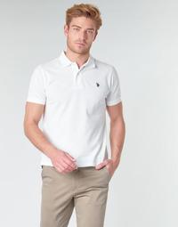 Abbigliamento Uomo Polo maniche corte U.S Polo Assn. INSTITUTIONAL POLO Bianco