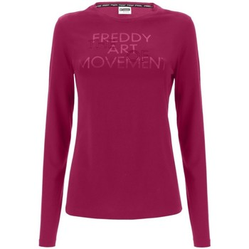 Abbigliamento Donna T-shirts a maniche lunghe Freddy T-Shirt Maniche Lunghe Donna Basic Rosso