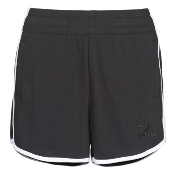Abbigliamento Donna Shorts / Bermuda Converse TWISTED VARSITY SHORT Nero