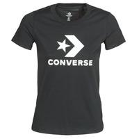 Abbigliamento Donna T-shirt maniche corte Converse STAR CHEVRON TEE Nero